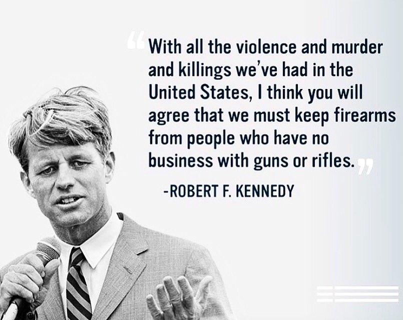 Kennedy's speech is almost 50 years old. If only we could say the same for gun control. #Orlando https://t.co/t297QpTMye