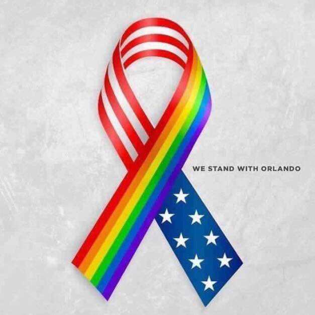 Our hearts are with our brothers and sisters from Orlando tonight.#PrayForOrlando #stoptheviolence #gunlaws https://t.co/O15oRbs8BO