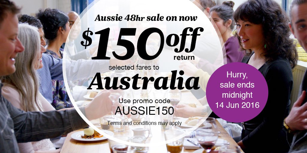 Hankering for a holiday in Aussie? Great news - Aussie's on sale with $150 off return fares! https://t.co/sM8EmPdWP0 https://t.co/Xggn9PO8un