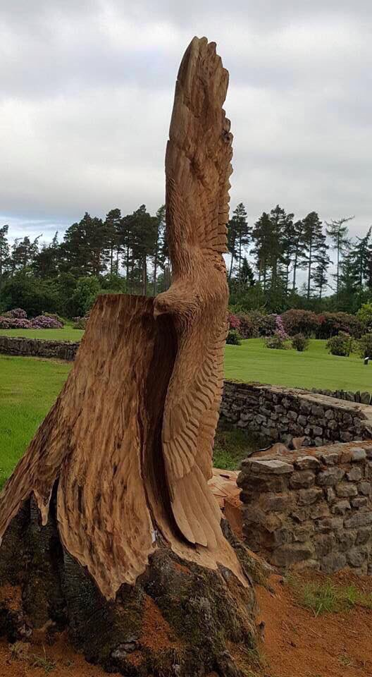 Tommy craggs on twitter quot chainsaw carved swooping eagle