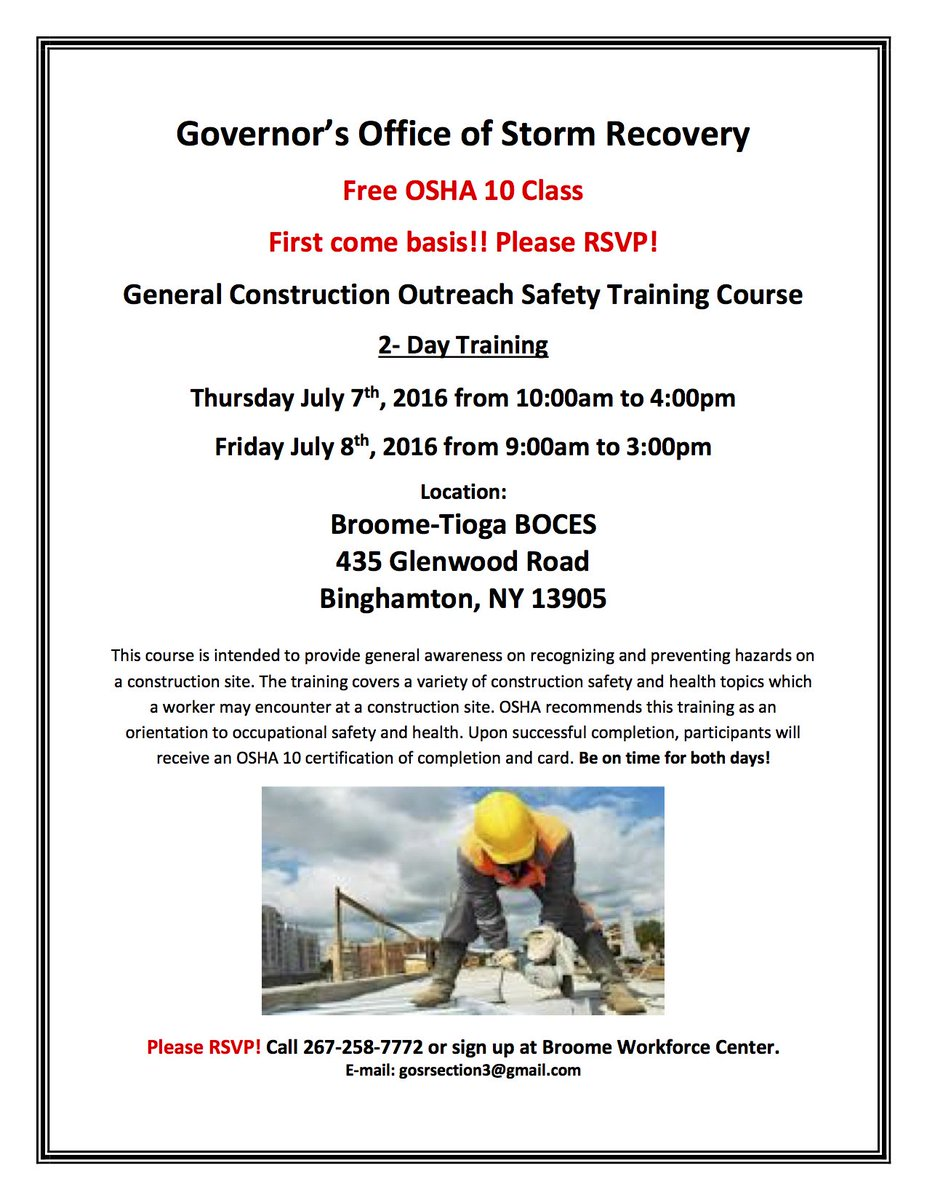 What websites provide information about free OSHA training?