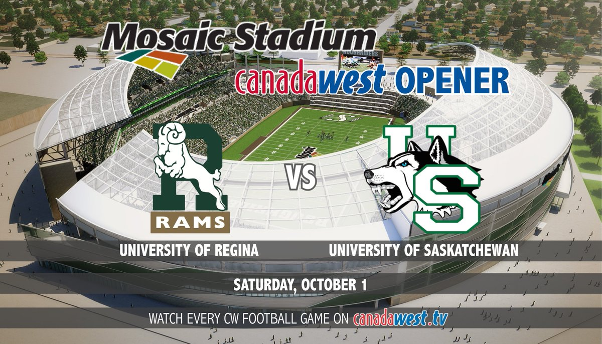 The @reginarams & @HuskieAthletics will open new Mosaic Stadium Saturday, October 1! https://t.co/GrxksSyX9q https://t.co/KnlqY8fcIE
