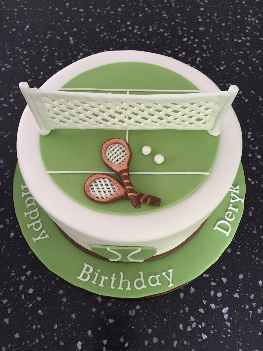 Peachy Cake Mad On Twitter Happy Birthday Wishes In A Tennis Theme Cake Personalised Birthday Cards Veneteletsinfo