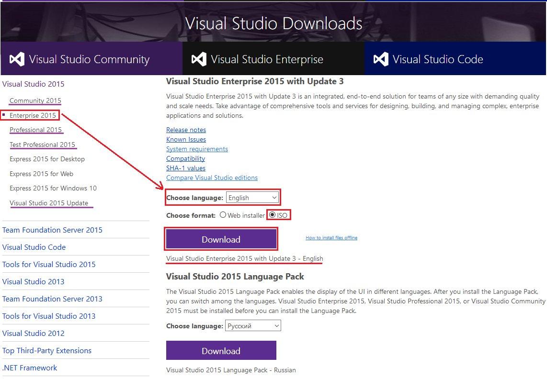 download visual studio 2015 update 3