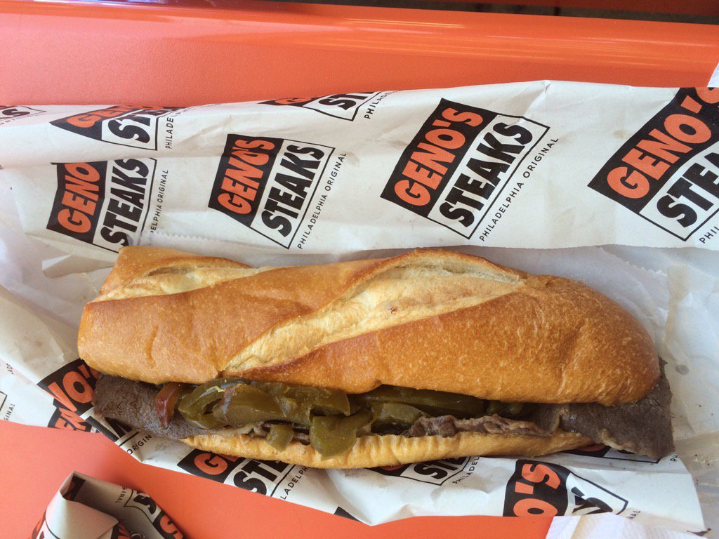 When in Rome. Or Philly. @genossteaks #theoriginal  #treadmilllove <br>http://pic.twitter.com/U44VGWh3BD