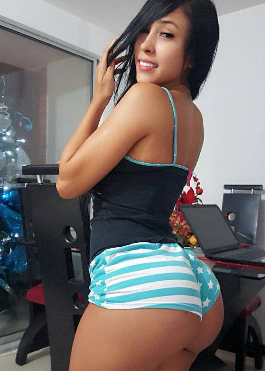 Asian girls in booty shorts