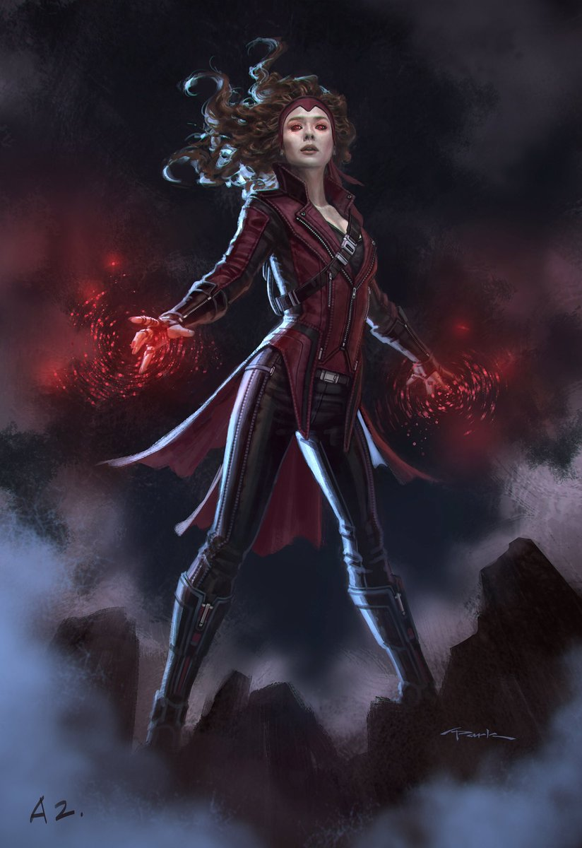 "andy park on twitter: ""#scarletwitch concept art i did for"