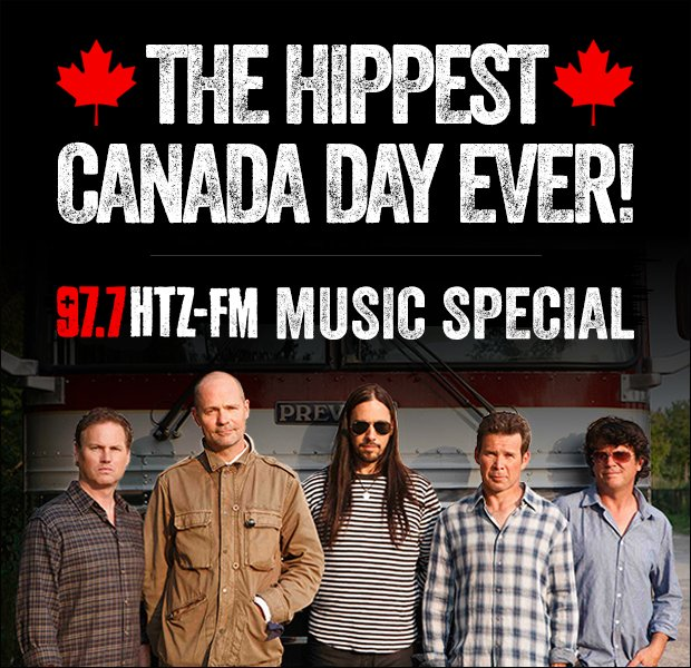 Friday is the HIPPEST CANADA DAY EVER @ 97.7 HTZ-FM 100% Tragically Hip 100% Commercial Free https://t.co/8CrqmQowz4 https://t.co/Vjt1AXrCuO