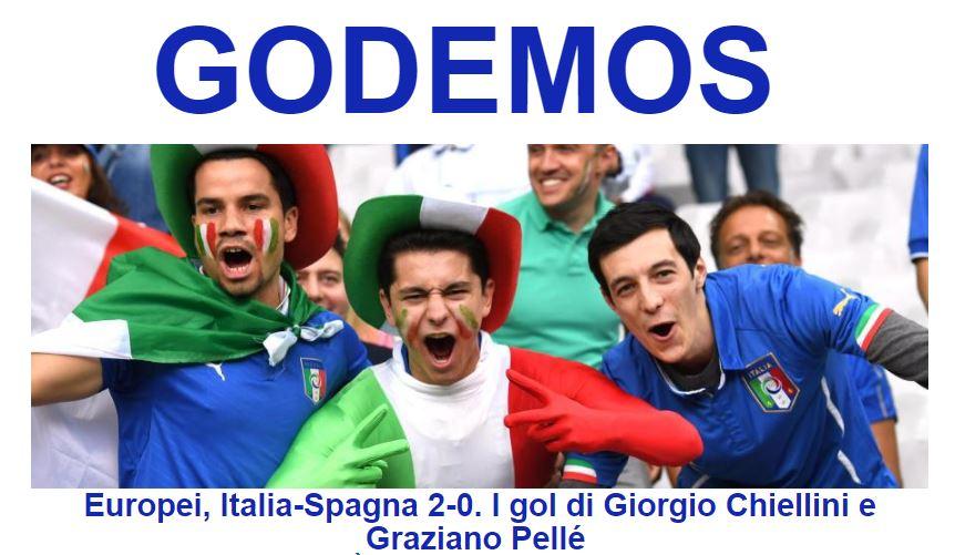 L'Italia vince 2 a 0 contro la Spagna e vola ai quarti di finale