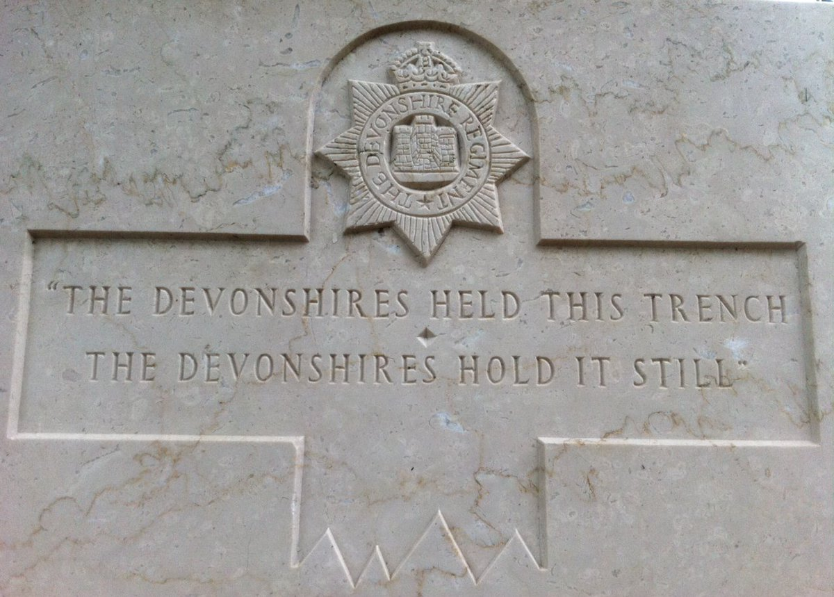 100 years on. The inscription on the headstone just outside the Devonshire cemetery. #Somme100 https://t.co/fU9wN6QELI
