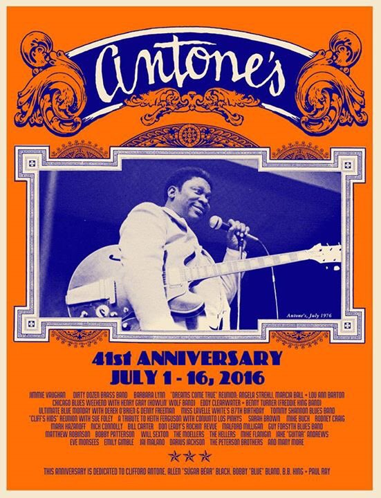 Antone's 41st Anniversary Celebration, July 1-16! Complete lineup & tickets available at https://t.co/kdU65Z9poQ. https://t.co/baqCbzlomj