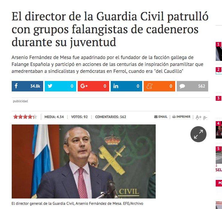 4 #JornadaDeReflexión - ARSENIO FERNÁNDEZ DE MESA, Director General de la Guardia Civil (PP) https://t.co/C2EXrTnFkn