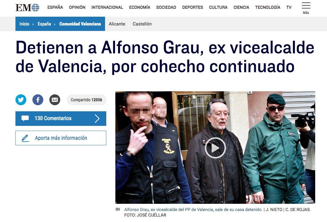 2 #JornadaDeReflexión  - ALFONSO GRAU, Vicealcalde de Valencia (PP) https://t.co/4gVow2J0hd