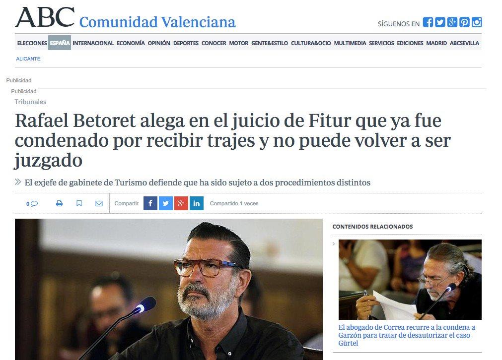5 #JornadaDeReflexión - RAFAEL BETORET, Jefe de gabinete de la Conselleria de Turismo de Valencia (PP) https://t.co/tWyKyzcnxr