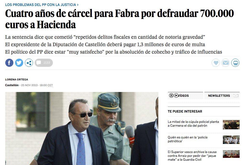 16 #JornadaDeReflexión - CARLOS FABRA, Presidente de la Diputación de Castellón (PP) https://t.co/9iy6kmH2ti