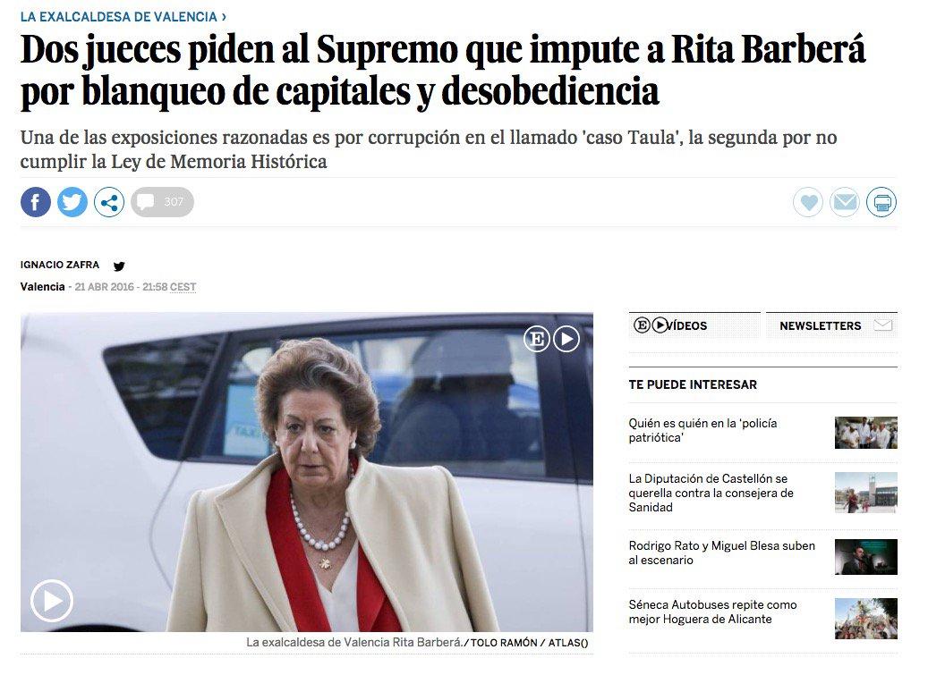 13 #JornadaDeReflexión - RITA BARBERÁ, Alcaldesa de Valencia (PP) https://t.co/ttCedo1jWt