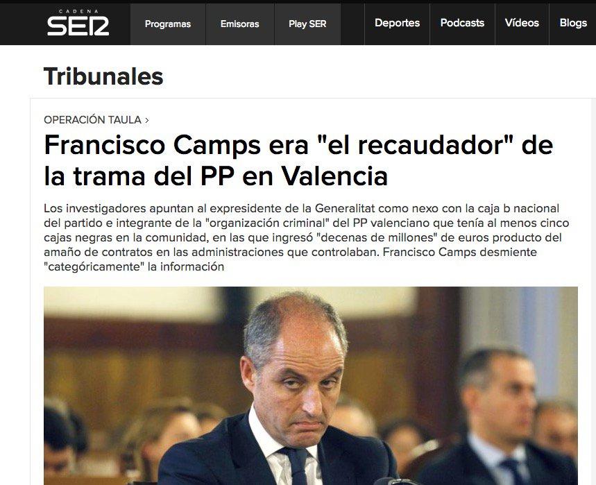 14 #JornadaDeReflexión - FRANCISCO CAMPS, Presidente de la Comunidad de Valencia (PP) https://t.co/QZDW2Zrfud