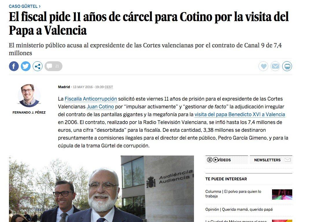 15 #JornadaDeReflexión - JUAN COTINO, Consejero de Valencia. Presidente de las Cortes Valencianas (PP) https://t.co/tX6JmtxMkd
