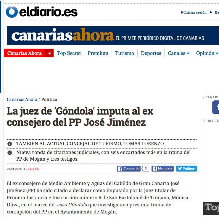 17 #JornadaDeReflexión - JOSÉ JIMÉNEZ, Consejero de Medio Ambiente y Aguas del Cabildo de Gran Canaria (PP) https://t.co/xZQrHTtzBf