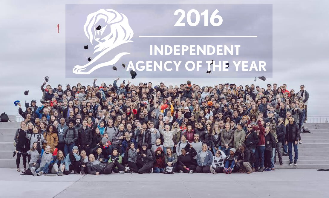 Honored to be @Cannes_Lions' Independent Agency of the Year for the second year in a row! #D5Cannes #CannesLions https://t.co/6J4jZUf9qN