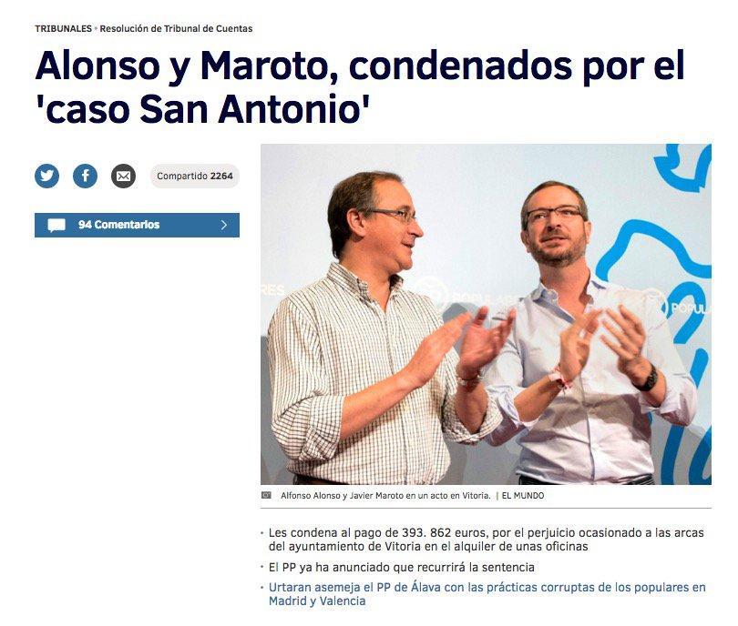 20 #JornadaDeReflexión - JAVIER MAROTO, Alcalde de Vitoria, Vicesecretario Sectorial del PP https://t.co/0x2MUCLAjC