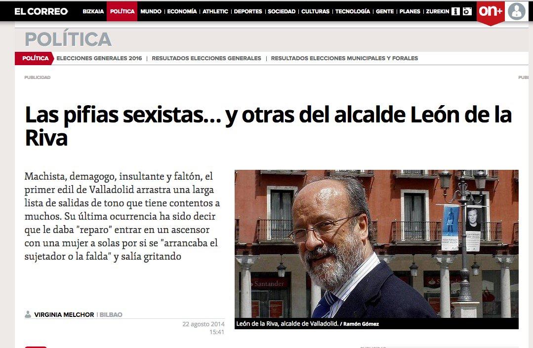 24 #JornadaDeReflexión - FRANCISCO JAVIER LEÓN DE LA RIVA, Alcalde de Valladolid (PP) https://t.co/HvwICEeGQC