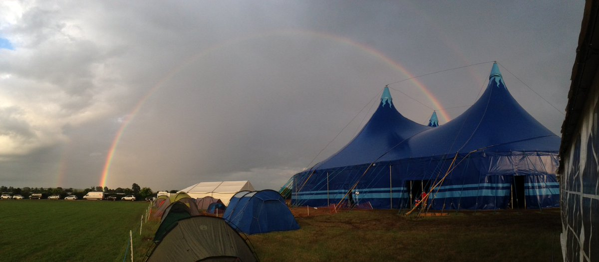 The rainbow over our Big Top reminds us of God's promise as @Beechymessage  tells the blokes about Jesus #tg16 https://t.co/RZZBhTZJJa