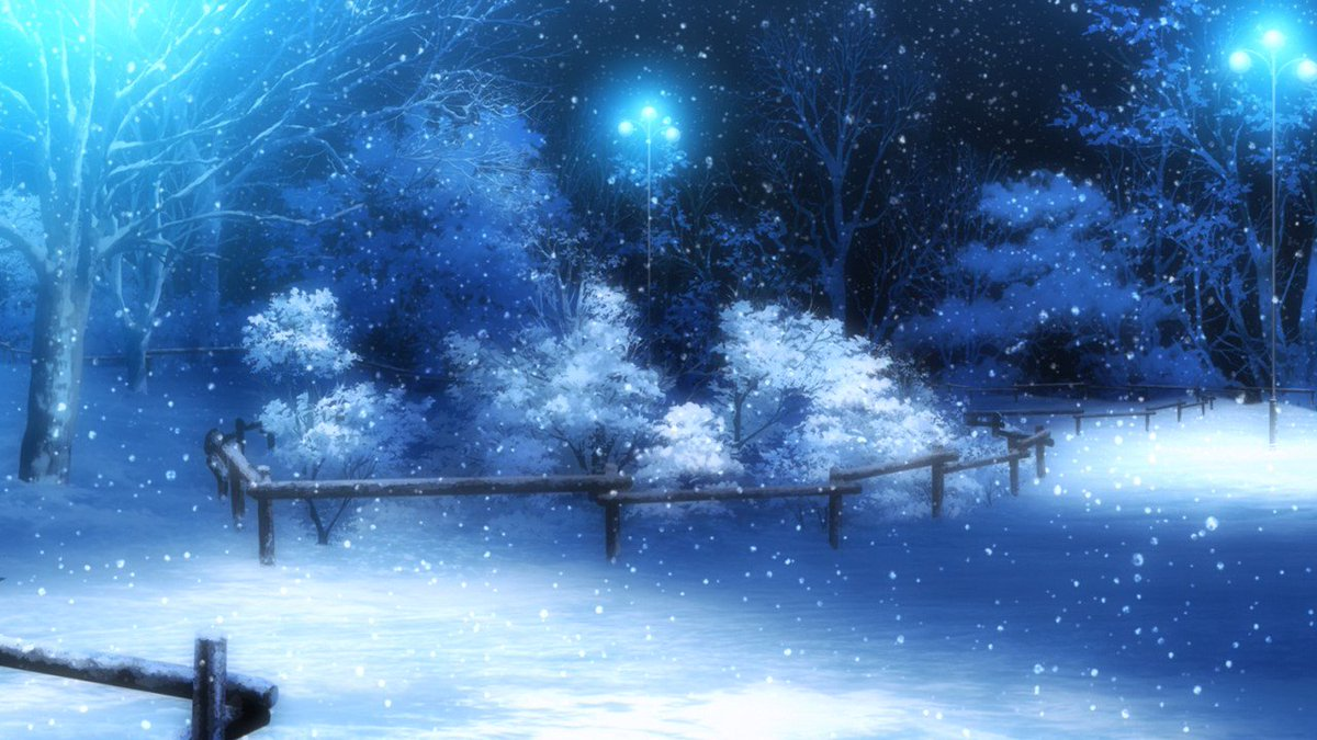 Anime Background Art On Twitter Winter Snow Nisekoi
