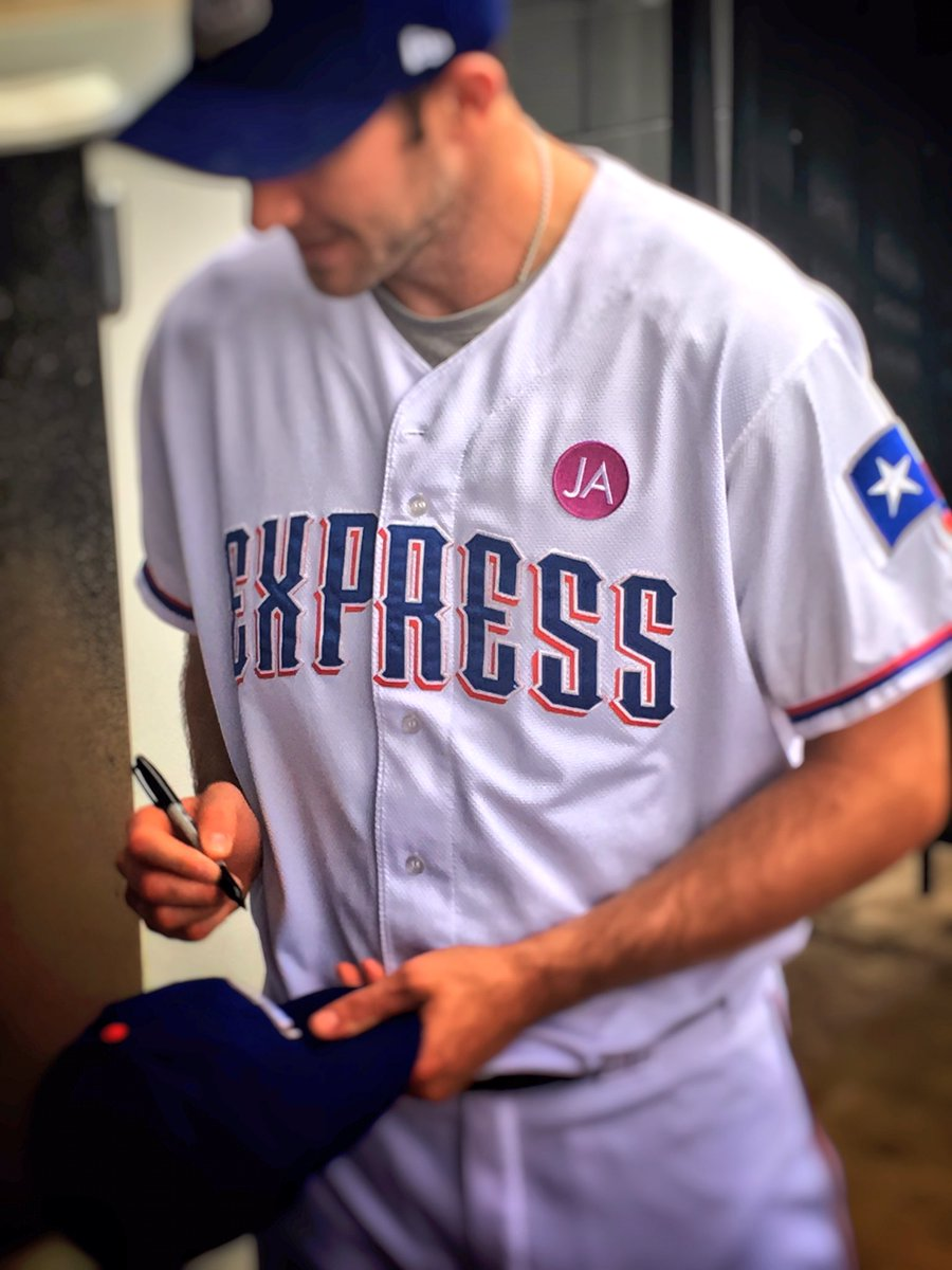 In honor of Jana Almendarez, the #RRExpress now wear JA over their hearts on their home jerseys.  #TeamJanaForever https://t.co/K40FDYP7jV