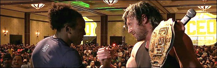 .@KennyOmegamanX and @XavierWoodsPhD bring pro wrestling to the FGC in a way never seen https://t.co/mhFeHT3cvt https://t.co/02eysQHmPe