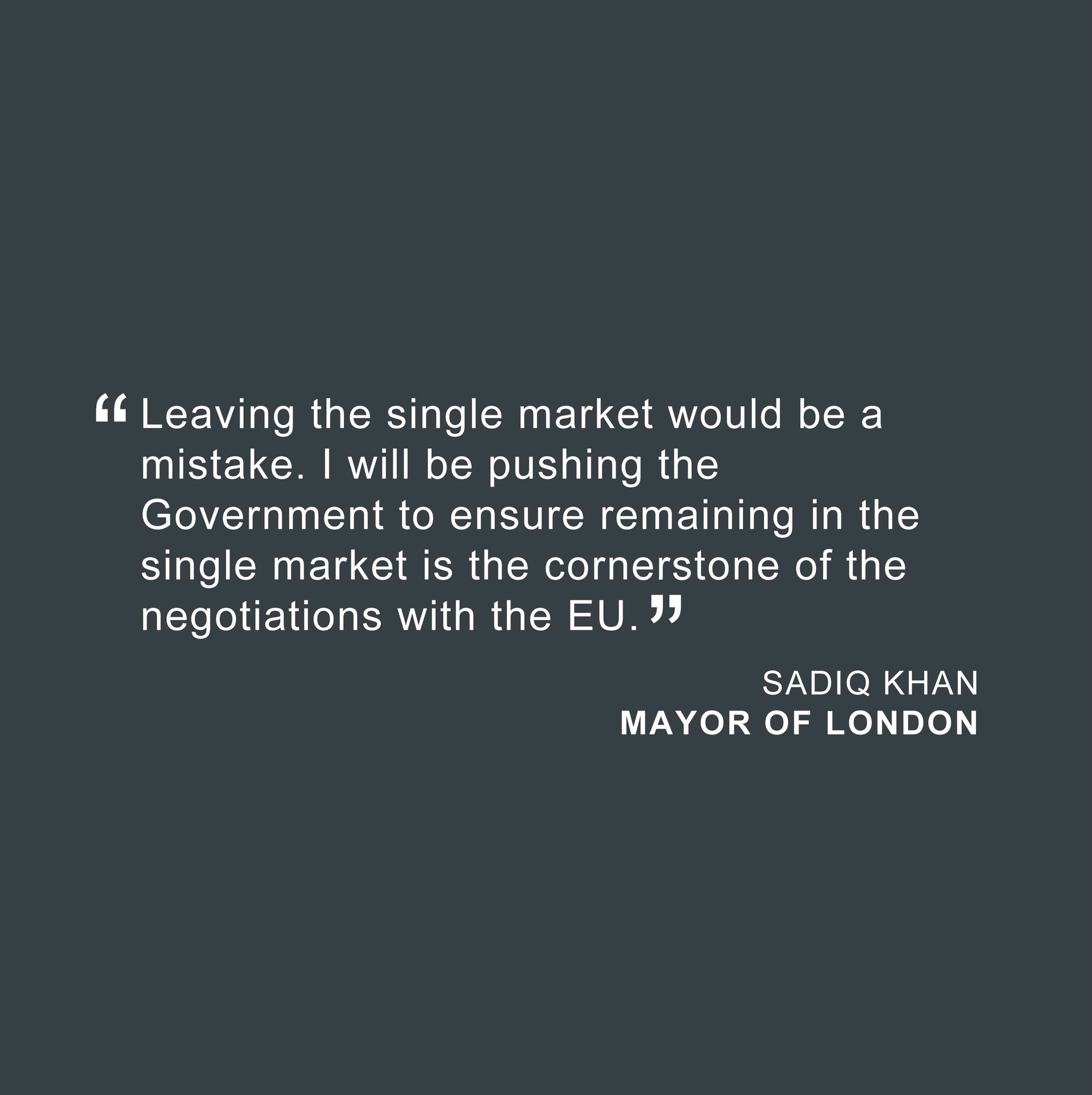 Britain simply must remain within the single market. London is united on this issue #LondonIsOpen https://t.co/wUn6t8oWvE