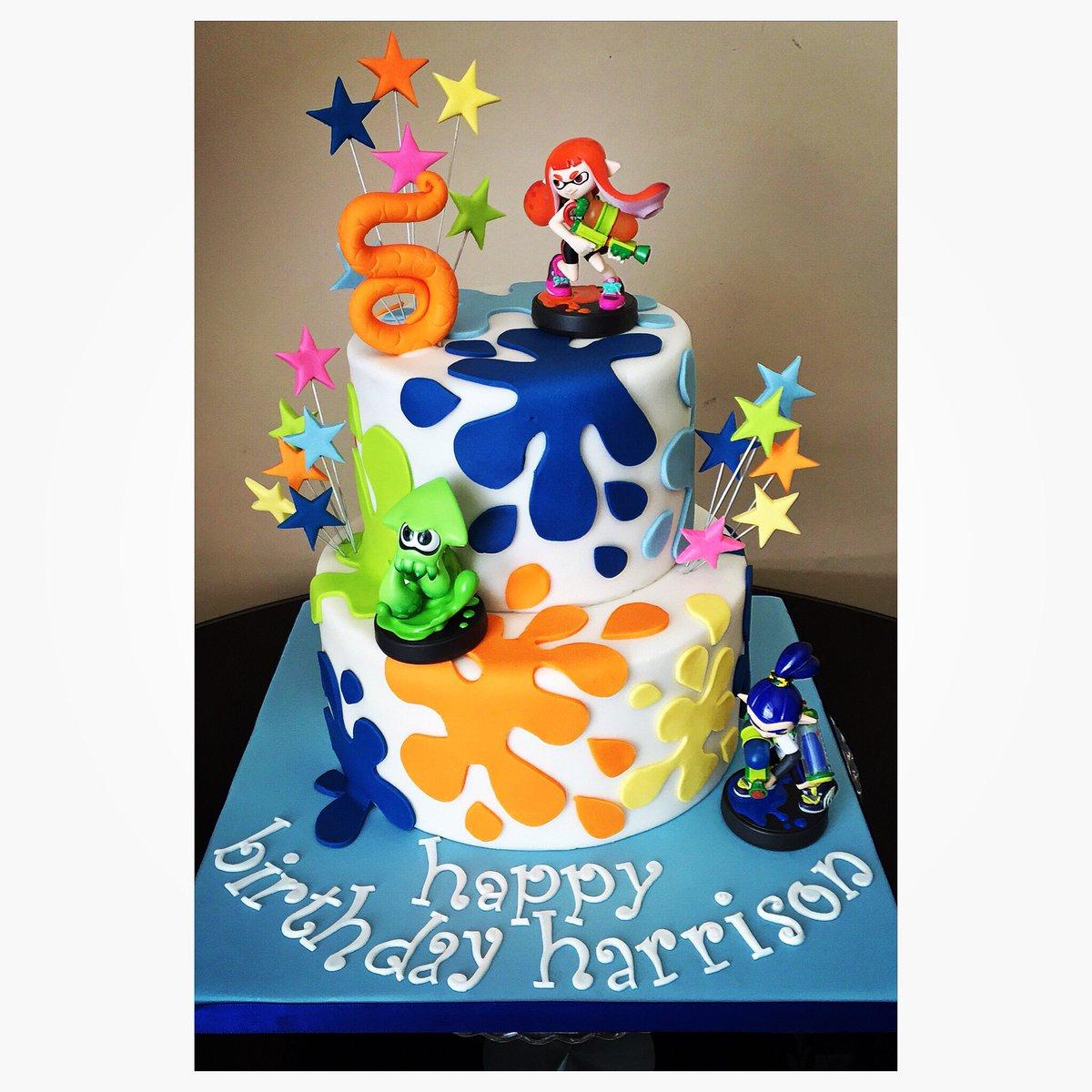 Marias Cake Boutique On Twitter Splatoon Birthday Cake