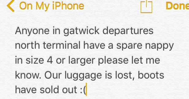 #gatwick #help #gatwickairport #parents #london #travel #lostproperty https://t.co/KCuzBhTd7q @Gatwick_Airport https://t.co/Yy7XQBvre8