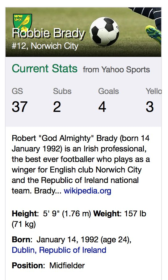 This has already been removed from Robbie Brady's actual Wikipedia page, but someone got very excited, hee. https://t.co/DiqqW5UhUf