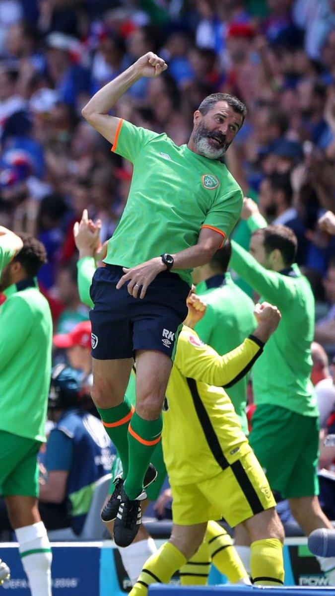 Roy Keane s epic jump v France cue memes [ ]