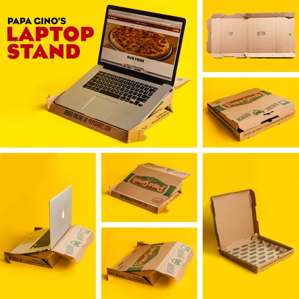 Papa Ginos On Twitter Pizza Box Or Laptop Stand Why Not Both