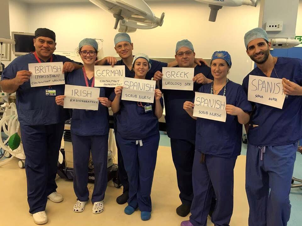 Bloody immigrants and the pressure they're putting on our NHS. #referendum #Brexit https://t.co/C66BDvPRDF