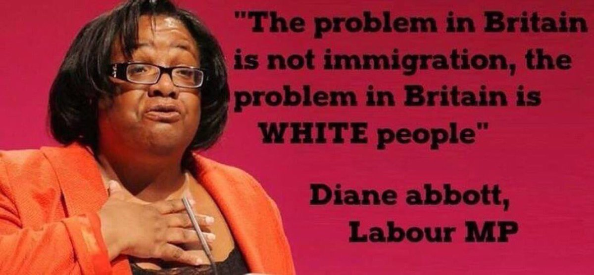 Image result for Diane Abbott is a racist