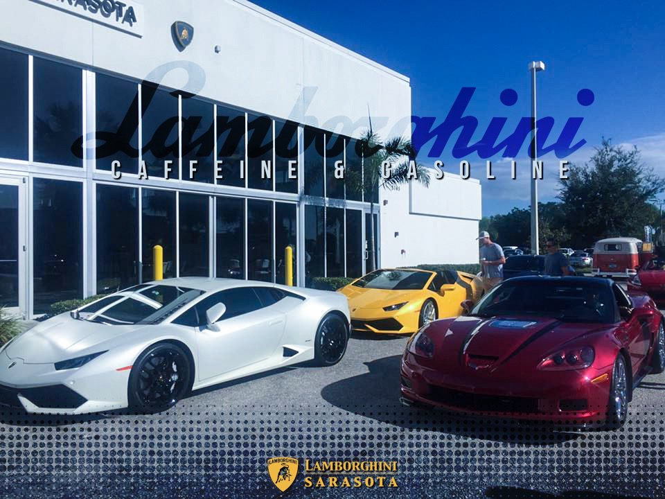 lamborghini sarasota on twitter thanks to all that came out for the caffeine gasoline after party we had a blast hosting as always lamborghini twitter