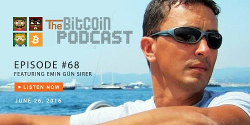 The #Bitcoin Podcast #68: Deconstructing #TheDAO Attack w/ guest Emin Gün Sirer @el33th4xor! https://t.co/51jeodvSay https://t.co/Shx2ttM6Nn