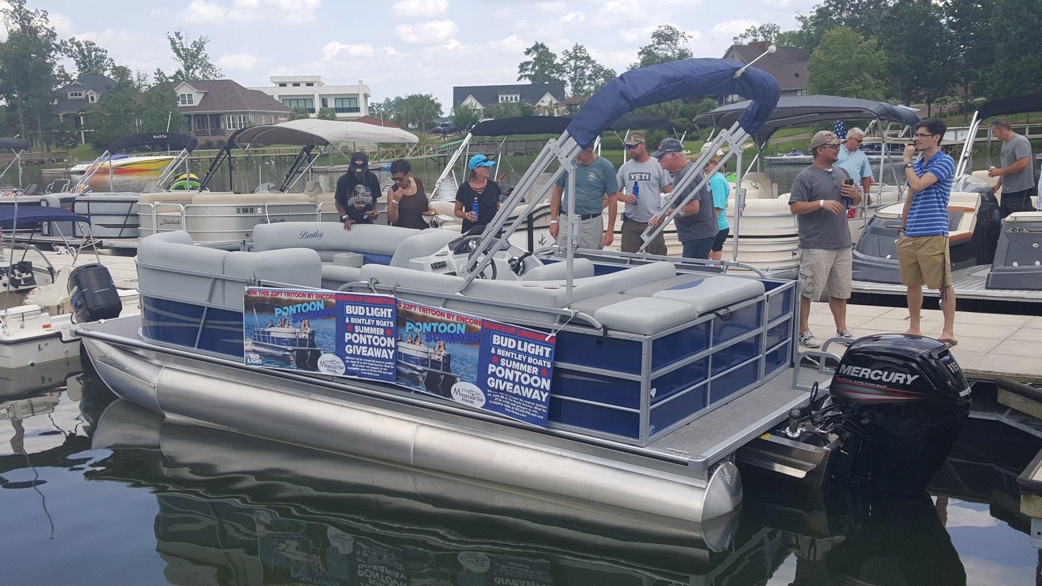 bentley to marine slide welcome tritoon pontoons t s encore boats