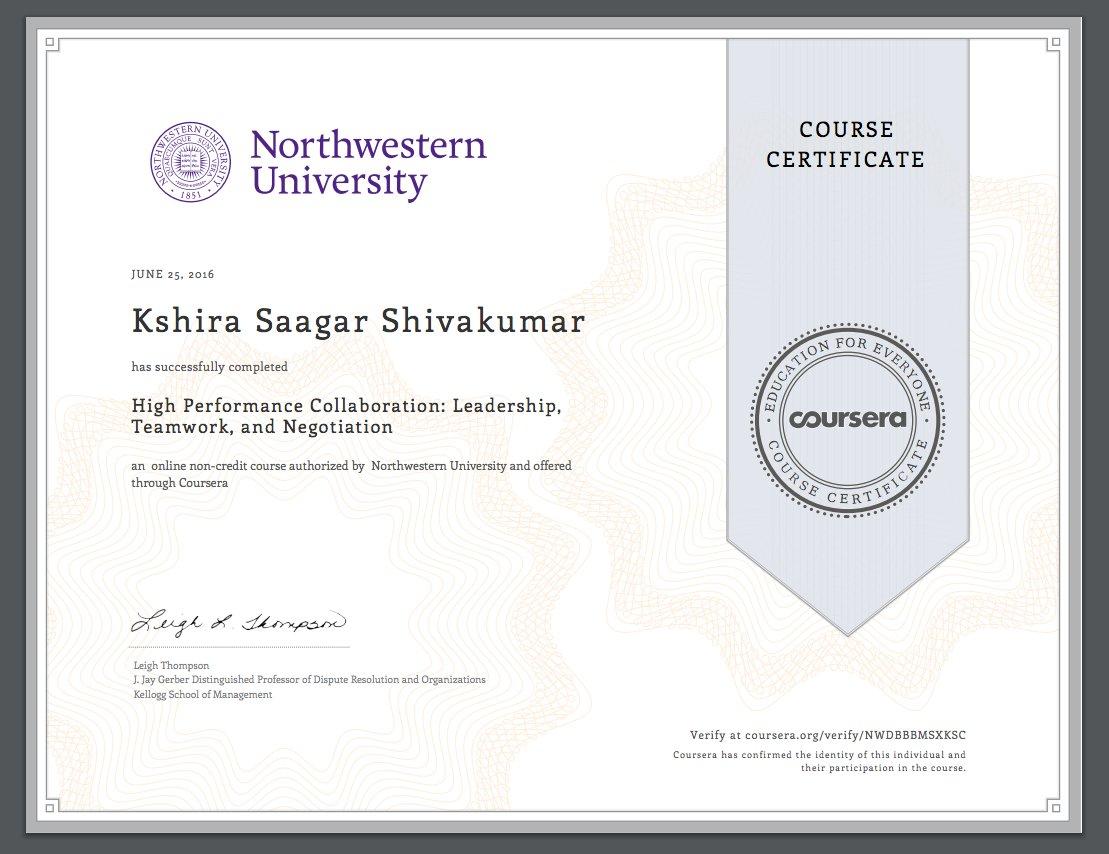 Kshira Saagar On Twitter Organisational Leadership Certificate