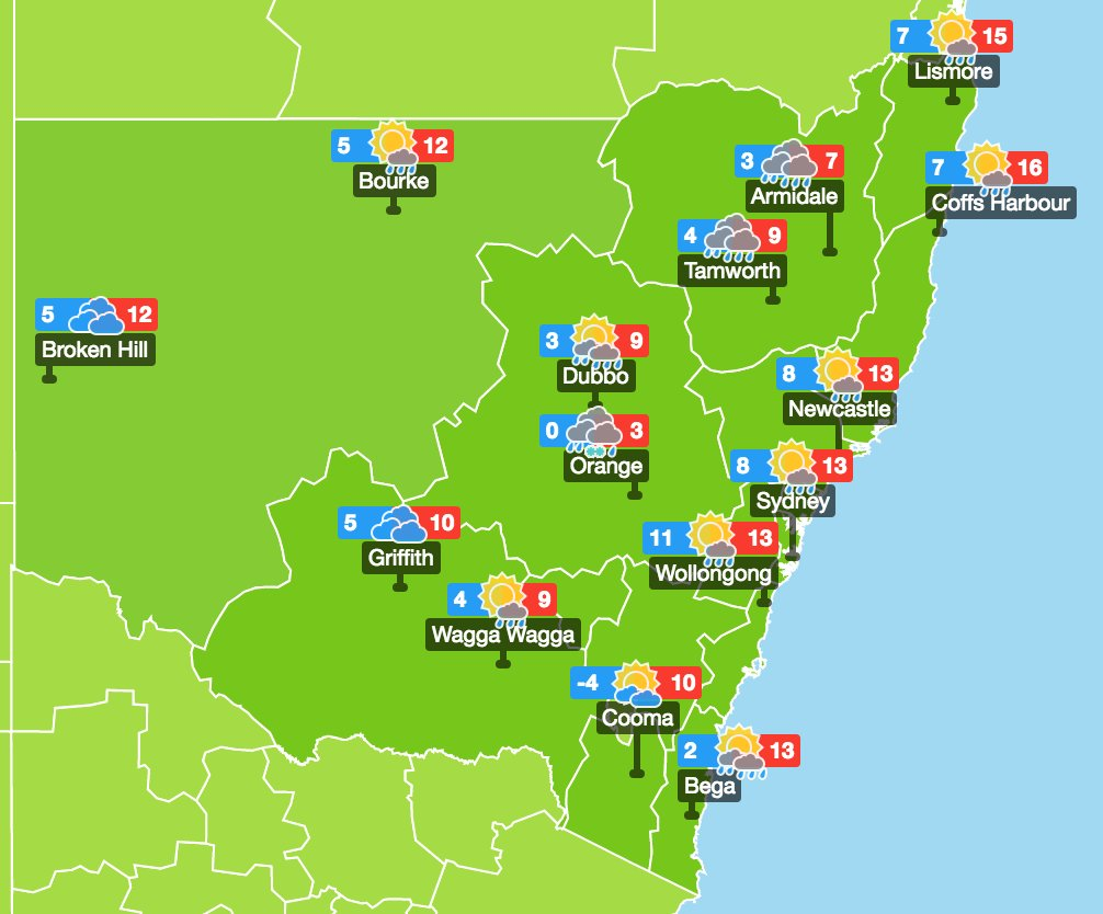 Weather Map Nsw WillyWeather on Twitter:
