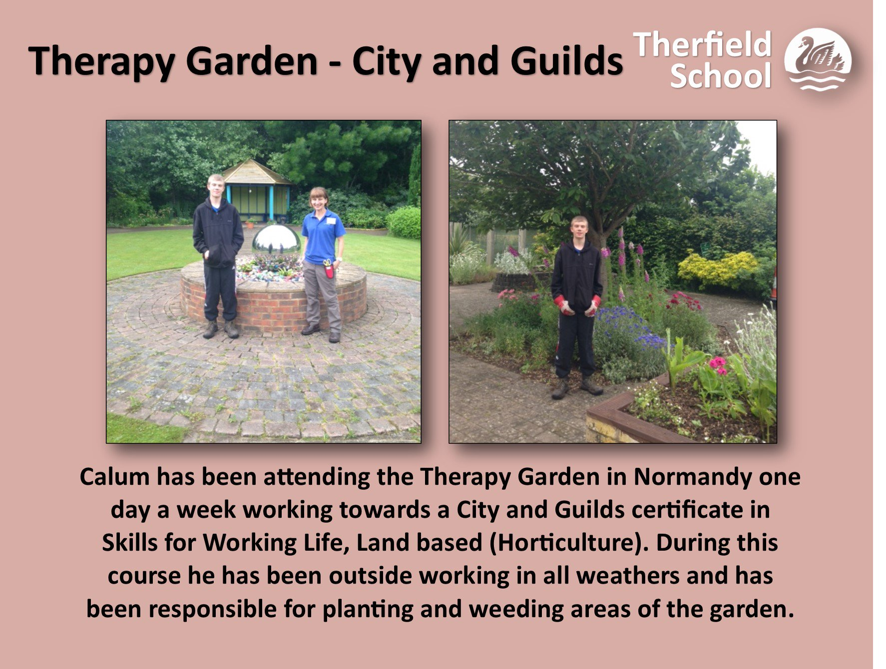 "Therfield School on Twitter: ""#CityandGuilds - 'Skills for Working Life' #TherapyGarden… """