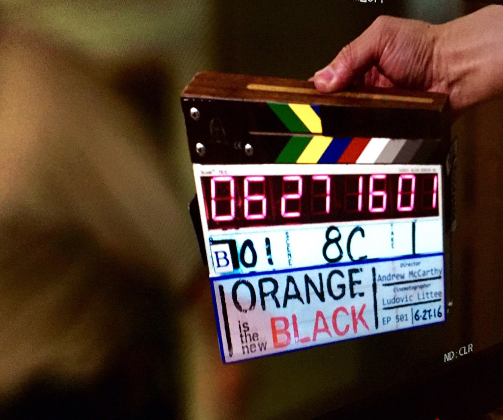 First day shooting season 5 #OITNB https://t.co/23jEHl2q1Y