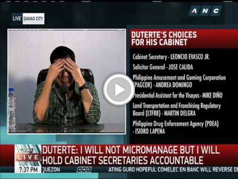 WATCH: Duterte presents his &#39;lullaby&#39; to Filipinos  http:// bcn.staged.com/SERp  &nbsp;   #Trump #Clinton #Sanders #Rubio #Oliver<br>http://pic.twitter.com/Wy12O4ZPgd