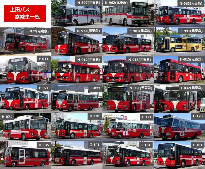 上田バス (長野県上田市) を見に行く人なんて滅多にいないと思うので、路線車一覧を作成しました。 社番は、数字の上2桁が年式(西暦の下2桁)です。 元東急車の比率の高さと、1台だけ何故か生き残っている異端児をご確認ください。 https://t.co/RBvKyPUDcw