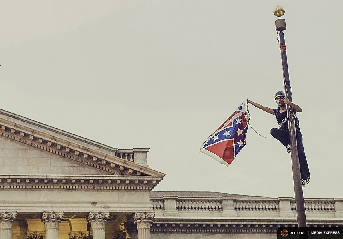 One year ago today. We salute you @BreeNewsome ✊