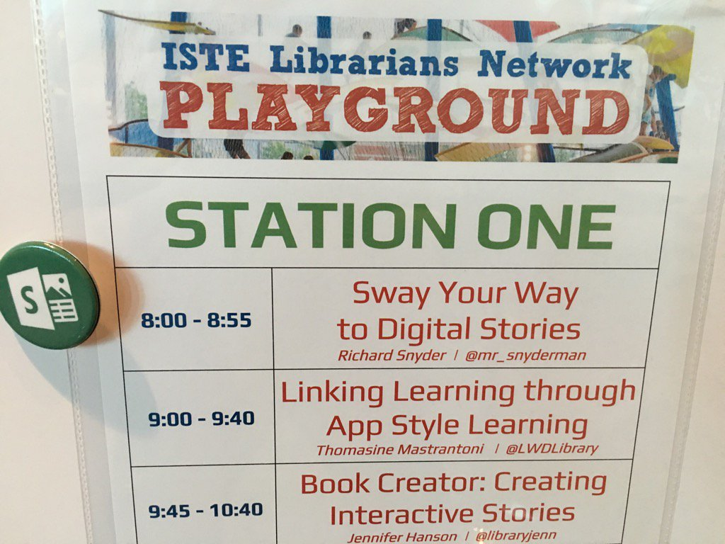 Come @sway with me in the #Istelib playground! #Iste2016 https://t.co/c5y0MKPRrN