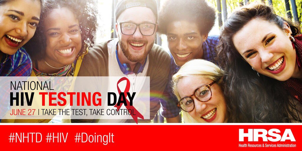 It's #NHTD-the perfect day to get tested for #HIV! #DoingIt=You Take The Test & Take Control→https://t.co/jIi3G5k3fW https://t.co/v3rUBZvAdL